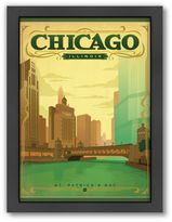 Art & Soul of AmericaTM Chicago: St. Patrick's Day Framed Wall Art by Anderson Design Group