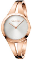 Calvin Klein Addict Lady Polished Rose Gold Pvd Bangle, Silver Dial