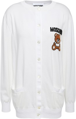 Moschino Embroidered Embellished Cotton Cardigan