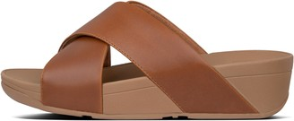 FitFlop Lulu Leather Cross Slides