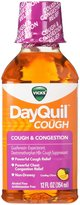 Vicks DayQuil Cough and Congestion Supressant, Non-Drowsy - Cooling Citrus - 12 oz