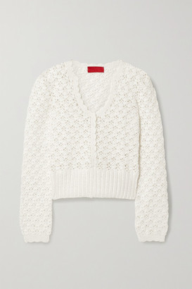 Commission Crocheted Cotton Sweater - Ivory
