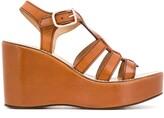 J&M Davidson open toe Jelly wedge sandals