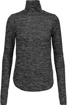 Rebecca Minkoff Minnie marled cotton-blend turtleneck sweater