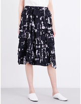 Comme des Garcons Tiered woven skirt