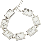 Oxford Sophie Silver/Wht.turq Bracelet