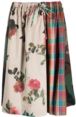 Semi-Couture Patchwork Midi Skirt