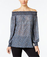 MICHAEL Michael Kors Printed Off-The-Shoulder Top