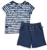 Splendid Boys 2-7 Little Boys Tie-Dye Henley Tee and Shorts Set