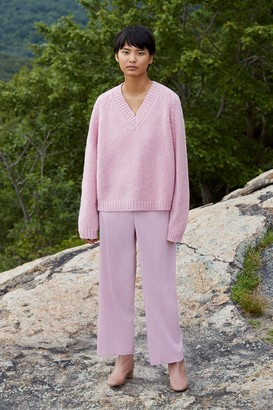 Mansur Gavriel Alpaca Wool V-Neck Sweater - Rosa