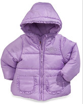 Protection Systems Baby Girls' Sparkle Ruffled Puffer Jacket