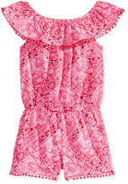 Epic Threads Bandana Romper, Toddler and Little Girls (2T-6X), Created for Macy's
