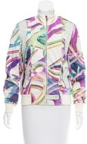Roccobarocco Printed Leather Jacket w/ Tags