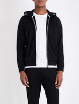 BOSS GREEN Ribbed-panel jersey hoody