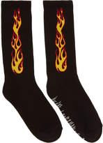 Palm Angels Black Flames Socks