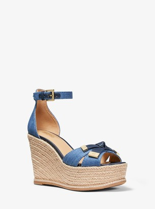 MICHAEL Michael Kors Ripley Denim Wedge Sandal