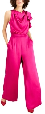 INC International Concepts Inc Petite Cowlneck Wide-Leg Jumpsuit, Created for Macy's