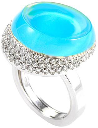 Roberta Porrati 18K 0.75 Ct. Tw. Diamond & Topaz Ring