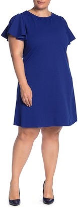Tash + Sophie Solid Scuba Crepe Dress (Plus Size)