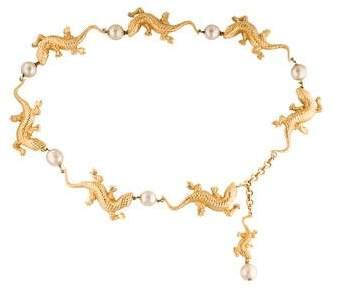 Chanel Salamander & Pearl Collectors Belt