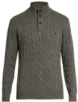 Polo Ralph Lauren Cable-knit Silk And Cotton-blend Sweater