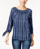 Style&Co. Style & Co. Off-The-Shoulder Tie-Sleeve Top, Only at Macy's