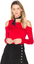Central Park West Baxter Street Cold Shoulder Sweater