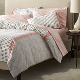 Crate & Barrel Torben Coral Twin Duvet Cover