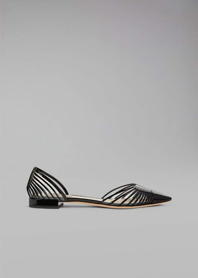 Giorgio Armani Ballet Flats With Plisse Design