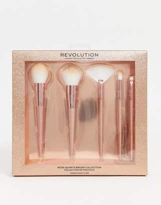 Revolution Precious Stone Brush Set Rose Quartz-No Colour