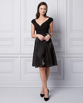 Le Château Organza Fit & Flare Cocktail Dress