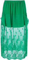 Stella McCartney dual panel lace skirt - women - Silk/Cotton/Polyamide - 40