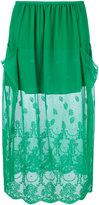 Stella McCartney dual panel lace skirt