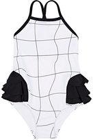 Motoreta Grid-Print Two-Piece Swimsuit