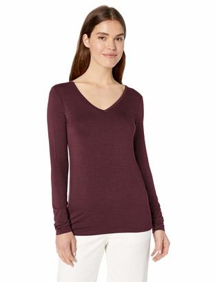 Daily Ritual Amazon Brand Women's Jersey Long-Sleeve V-Neck T-Shirt