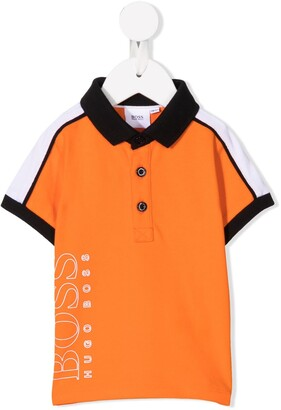 Boss Kidswear Colour Block Polo Shirt