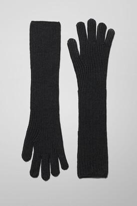 Weekday Long Gloves - Black