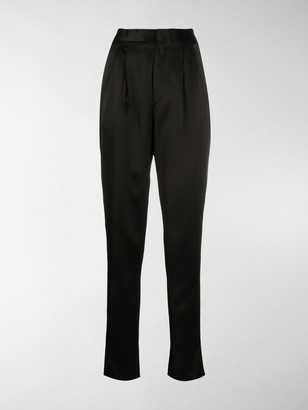 Saint Laurent High-Waist Pleated Trousers