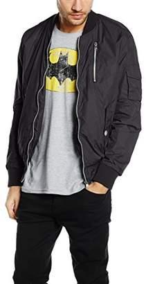 Sublevel Men's Quilted Long Sleeve Jacket - Black