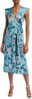 Diane von Furstenberg Gwendolyn Reversible Satin Floral-Print Wrap Dress