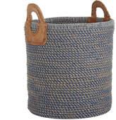 Nkuku Indra Coil Basket - Blue - Large