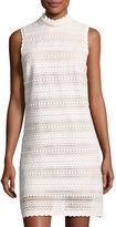 ABS by Allen Schwartz Crochet-Lace Shift Dress, Ivory