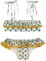 Lison Paris Poppy Patterned 2 Piece Bandeau Swimsuit