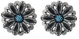 Lanvin flower clip on earrings