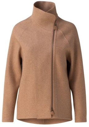 Akris Ray Cashmere Stand Collar Jacket