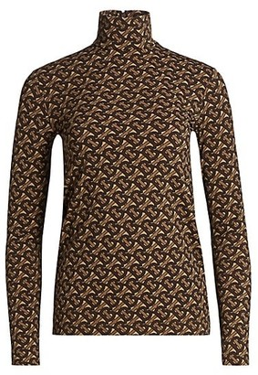 Burberry Trancura Monogram Turtleneck Top