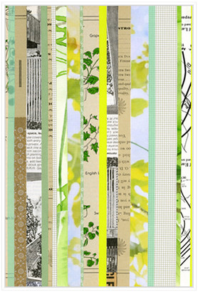 Jonathan Bass Studio Paper Strip Collage D, Decorative Framed Hand Embe