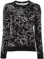 Kenzo sketch print jumper - women - Cotton - XS