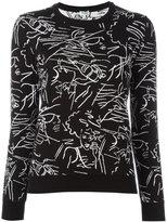 Kenzo sketch print jumper - women - Cotton - XS