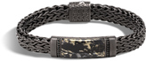 John Hardy Men's Classic Chain 11MM Station Bracelet, Blackened Sterling Silver, Black Sapphire
